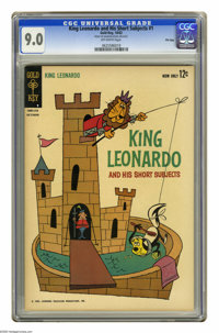 King Leonardo and His Short Subjects #1 File Copy (Gold Key, 1962) CGC VF/NM 9.0 Off-white pages. Overstreet 2005 VF/NM...