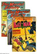 Miscellaneous Golden Age Group (Various Publishers, 1945-56) Condition: Average GD/VG. Five-issue lot includes Batman #1...