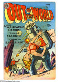 Golden Age (1938-1955):Science Fiction, Out of This World #1 (Avon, 1950) Condition: VG+. Robot cover byGene Fawcette. Joe Kubert art. Origin of Crom the Barbarian... (1 )