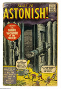 Silver Age (1956-1969):Horror, Tales to Astonish #1 (Marvel, 1959) Condition: FR/GD. Jack Kirbymonster cover. Kirby, Steve Ditko, and Jack Davis art. Over... (1 )