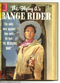The Flying A's Range Rider #14-24 Bound Volume (Dell, 1956-59). These are Western Publishing file copies that have been...