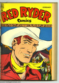 Golden Age (1938-1955):Western, Red Ryder Comics #49-72 Bound Volumes (Dell, 1947-49). These areWestern Publishing file copies that have been trimmed and b... (2 )