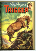 Golden Age (1938-1955):Western, Roy Rogers' Trigger #2-13 Bound Volume (Dell, 1951-54). These areWestern Publishing file copies that have been trimmed and ...