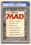 "Magazines:Mad, Mad #24 (EC, 1955) CGC VG/FN 5.0 Light tan to off-white pages.First magazine issue. First ""What? Me Worry?"" on cover. Harve... (1)"