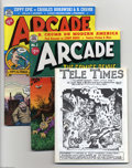 Bronze Age (1970-1979):Alternative/Underground, Arcade the Comics Revue #2-5 Group (Print Mint, 1975-76) Condition: Average FN. Four issues, featuring Robert Crumb art. Oth... (5 Comic Books)