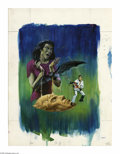 """Original Comic Art:Covers, Western Publishing Artist - Dark Shadows #24 Cover Original Art(undated). """"Barnabus beware! When your image is completed by..."""