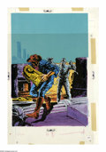 "Original Comic Art:Miscellaneous, Western Publishing Artist - Horror Cover Color Guide (undated).This lot features the oversized,""blue-line,"" mixed-media col..."