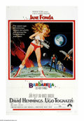 "Movie Posters:Science Fiction, Barbarella (Paramount, 1968). One Sheet (27"" X 41""). From thefamous zero-gravity strip tease to the orgasmic pipe organ of ..."