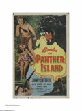 "Movie Posters:Adventure, Bomba on Panther Island (Monogram, 1949). One Sheet (27"" X 41"").This is a vintage, theater used poster for this jungle adve..."