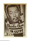 """Movie Posters:Mystery, Charlie Chan in Egypt (Fox, 1935). Herald (6"""" X 9""""). Usually regarded as one of the best entries in the """"Chan"""" series, this ..."""