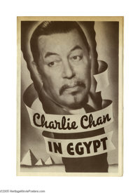 """Charlie Chan in Egypt (Fox, 1935). Herald (6"""" X 9""""). Usually regarded as one of the best entries in the """"..."""