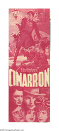 """Movie Posters:Western, Cimarron (RKO, 1931). Herald (4.5"""" X 12""""). This Academy Award winning picture was adapted from the great Edna Ferber novel o..."""