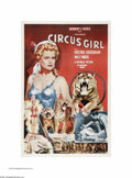 """Movie Posters:Adventure, Circus Girl (Republic, 1956). One Sheet (27"""" X 41""""). This is avintage, theater-used poster for this circus adventure that w..."""