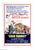 "Movie Posters:Comedy, Cold Turkey (United Artists, 1971). One Sheet (27"" X 41""). An evil tobacco company (aren't they all?) makes a $25 million be..."