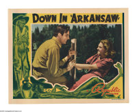 "Down in Arkansaw (Republic, 1938). Lobby Card (11"" X 14""). Engineer John Parker (Ralph Byrd) comes to Arkansas..."