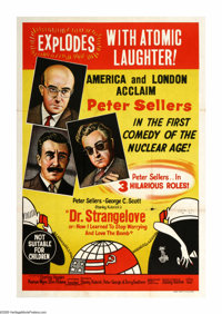 """Dr. Strangelove or: How I Learned to Stop Worrying and Love the Bomb (Columbia, 1964). Australian One Sheet (27"""" X..."""