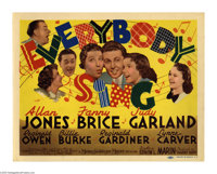 """Everybody Sing (MGM, 1938). Title Lobby Card (11"""" X 14""""). The great title card for this MGM musical pictures a..."""