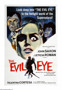 "The Evil Eye (American International, 1964). One Sheet (27"" X 41""). Also known as ""The Girl Who Knew Too..."
