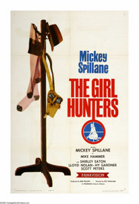 "The Girl Hunters (Colorama, 1963). One Sheet (27"" X 41""). Novelist Mickey Spillane stars as his own character..."