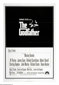 "The Godfather (Paramount, 1972). One Sheet (27"" X 41""). One of the greatest American films of all time, ""..."