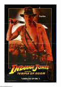 "Movie Posters:Adventure, Indiana Jones and the Temple of Doom (Paramount, 1984). One Sheet(27"" X 41"") Advance. This was director Steven Spielberg's ..."