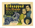 "Movie Posters:Adventure, Kidnapped (20th Century Fox, 1938). Title Lobby Card (11"" X 14"").Robert Louis Stevenson's tale of the late eighteenth centu..."
