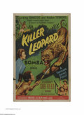 """Movie Posters:Adventure, Killer Leopard (Allied Artists, 1954). One Sheet (27"""" X 41""""). Thisis a vintage, theater used poster for this jungle adventu..."""