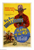"Movie Posters:Western, Law Of The 45's (Normandy, 1935). One Sheet (27"" X 41""). The firstentry in one of western films longest running series, thi..."