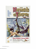 """Movie Posters:Fantasy, Mermaids of Tiburon (Film Group, Inc., 1962). One Sheet (27"""" X41""""). This is a vintage, theater-used poster for this fantasy..."""