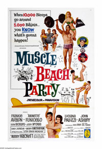 """Muscle Beach Party (American International, 1964). One Sheet (27"""" X 41""""). The Beach Party guys and gals return..."""