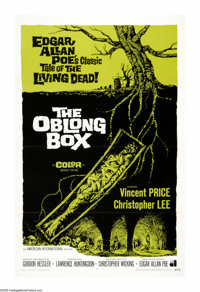 "The Oblong Box (AIP, 1969). One Sheet (27"" X 41""). ""Buried. Waking up in that horrible oblong box, no air..."