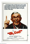 "Movie Posters:Comedy, Oh, God (Warner Brothers, 1977). One Sheet (27"" X 41""). GeorgeBurns became a star again after he appeared in this hilarious..."