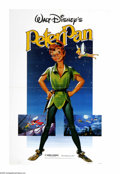 "Movie Posters:Animated, Peter Pan (RKO, R-1982). One Sheet (27"" X 41""). Walt Disney'sclassic cartoon based on the James Barrie children's story was..."