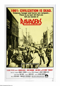 "Ravagers (Columbia, 1979). One Sheet (27"" X 41""). In the post WWIII world of 1991, Richard Harris tries to gat..."