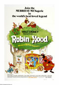 "Movie Posters:Animated, Robin Hood (Buena Vista, 1971). One Sheet (27"" X 41""). Made shortly after Walt Disney died, this animated retelling of the R..."
