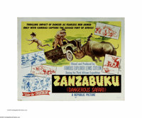 "Zanzabuku (Republic, 1956). Half Sheet (22"" X 28""). This is a vintage, theater-used poster for this documentar..."