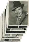 "Movie/TV Memorabilia:Photos, Vintage Supporting Actor Photos Group. Seven black-and-white 8"" x 10"" photos, all unsigned. Included are Dick Powell, James ..."