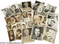 Movie/TV Memorabilia:Photos, Vintage Hollywood Photo Archive. This lot of almost three-dozenvintage black-and-white promotional photos of various actors... (32Items)