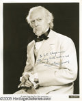 """Movie/TV Memorabilia:Photos Signed, Lionel Barrymore Signed Photograph. An 8"""" x 10"""" black-and-whitepromo shot from the 1935 family drama """"The Little Colonel,""""... (1 )"""