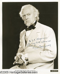 """Lionel Barrymore Signed Photograph. An 8"""" x 10"""" black-and-white promo shot from the 1935 family drama """"Th..."""