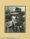 "Movie/TV Memorabilia:Photos Signed, Richard Boone Signed Photo. A signed black-and-white 8"" x 10"" photoof the late actor, matted to an overall size of 11"" x 14... (1 )"