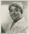 Movie/TV Memorabilia:Photos Signed, Jane Darwell Signed Photo. As an actress who appeared in more than200 films, Jane Darwell won much acclaim for performances... (1 )