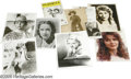 """Movie/TV Memorabilia:Photos Signed, Classic and Modern Stage and Screen Actresses Autograph Lot. Included is a black-and-white 3"""" x 5"""" photo signed by Margaret ..."""