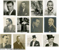 "Movie/TV Memorabilia:Photos Signed, Classic Hollywood Actors Signed Photos Group. This set of nine includes black-and-white 8"" x 10"" photos signed by Jack Haley... (12 )"
