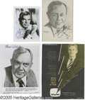 "Movie/TV Memorabilia:Photos Signed, Academy Award-Winning Actors Signed Items Group. Featured here is a5"" x 7"" black-and-white photo signed by Lee Marvin (in e..."
