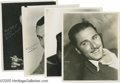 "Movie/TV Memorabilia:Photos Signed, Vintage Leading Men Signed Photos. Here are four signedblack-and-white 8"" x 10"" photographs, one each for HumphreyBogart,... (4 )"