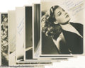 "Movie/TV Memorabilia:Photos Signed, Hollywood Starlets Signed Photos. A selection of six signed black-and-white 8"" x 10"" photographs that includes Ann Sheridan,... (6 Items)"