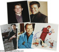 "Movie/TV Memorabilia:Photos Signed, Movie Actors Photos Group Lot. Featured are 8"" x 10"" color photos signed by Robin Williams, Matt Damon (two), Adam Sandler,... (5 )"