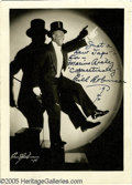 """Movie/TV Memorabilia:Photos Signed, Bill Robinson Signed Photograph. A black-and-white 5"""" x 7"""" photo of Bill """"Bojangles"""" Robinson, dated 1942 and inscribed """"Jus..."""