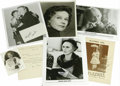 Movie/TV Memorabilia:Photos Signed, Classic Hollywood Oscar-Winning Actresses Autograph Group. Featuredis a typed letter on personal stationery dated May 13, 1...